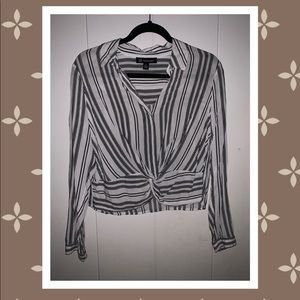 INC Long-sleeve Stripe Top